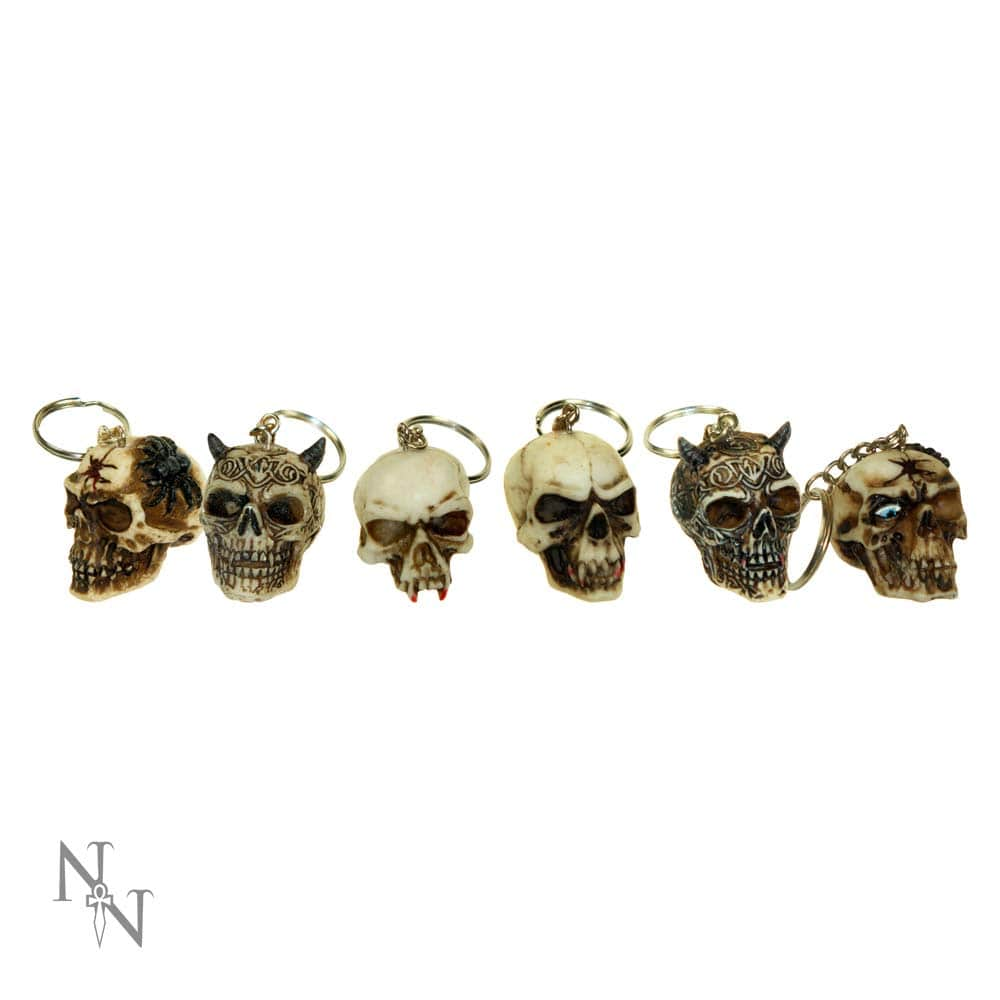 Skull Keyrings (3cm) (Pack Of 6) Skull Keyrings