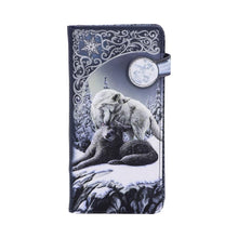 Load image into Gallery viewer, Snow Kisses Embossed Purse (Lp) 18.5cm Wolves Purse