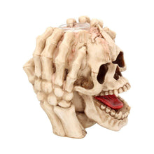 Load image into Gallery viewer, Splitting Headache Tea Light 15.5cm Skull Candle/Tealight Holder