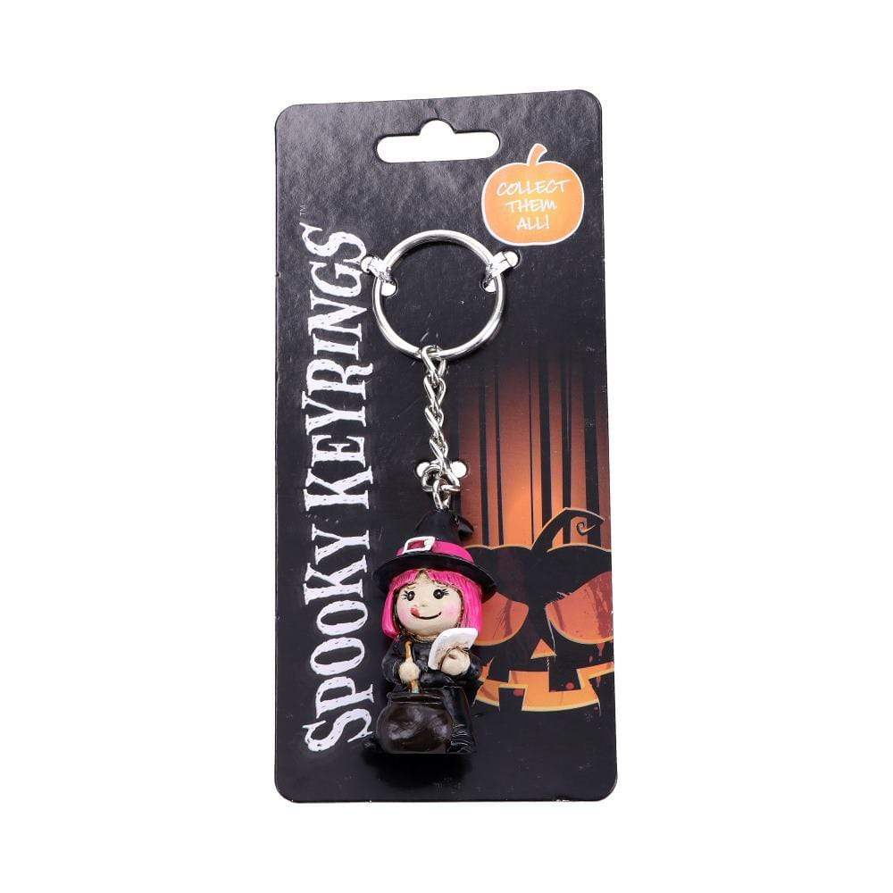 Spooky Keyrings Witch 5.5cm (Pack Of 12) Witchcraft & Wiccan Keyrings