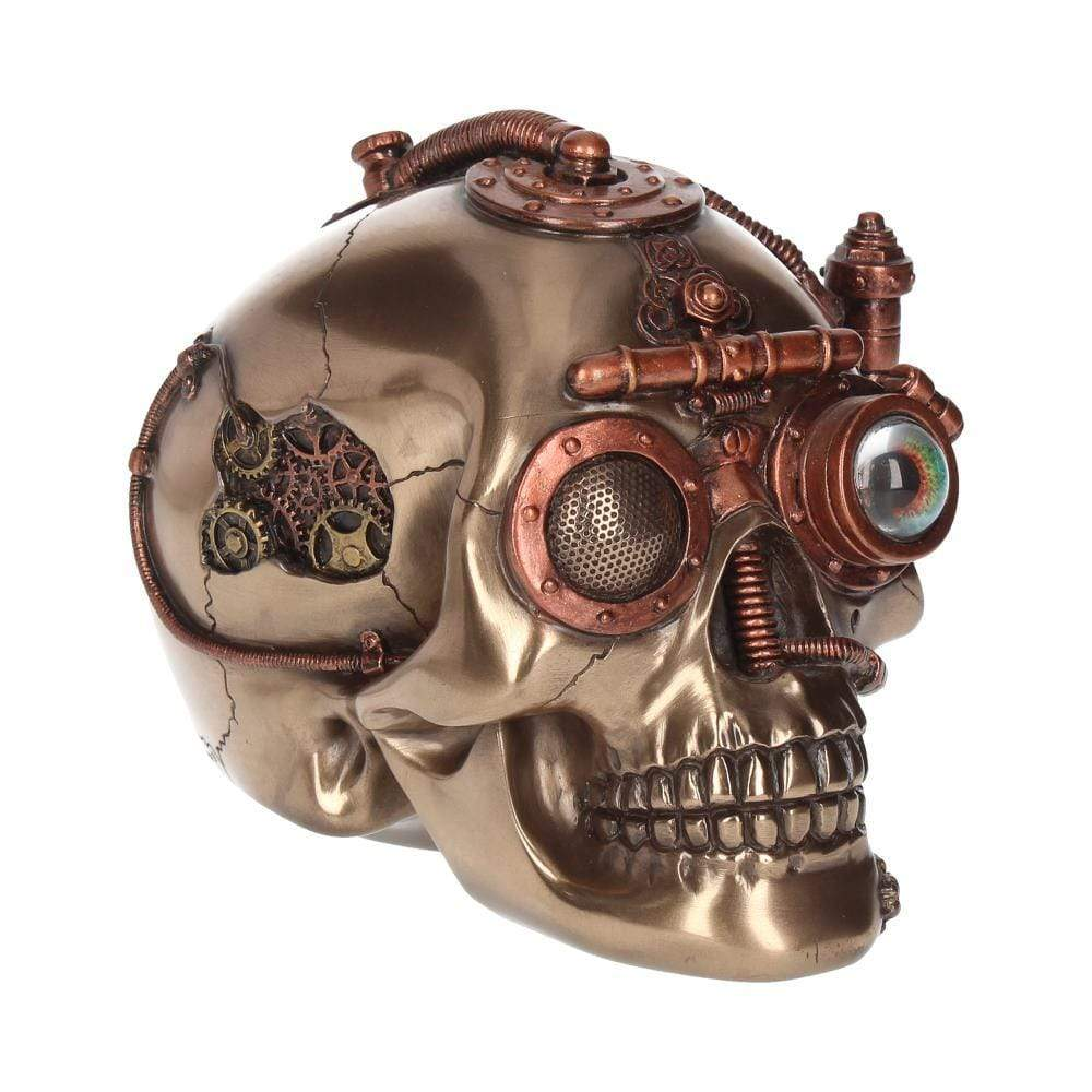 Steam Powered Observation Skull 16.5cm Skull Figurine Medium