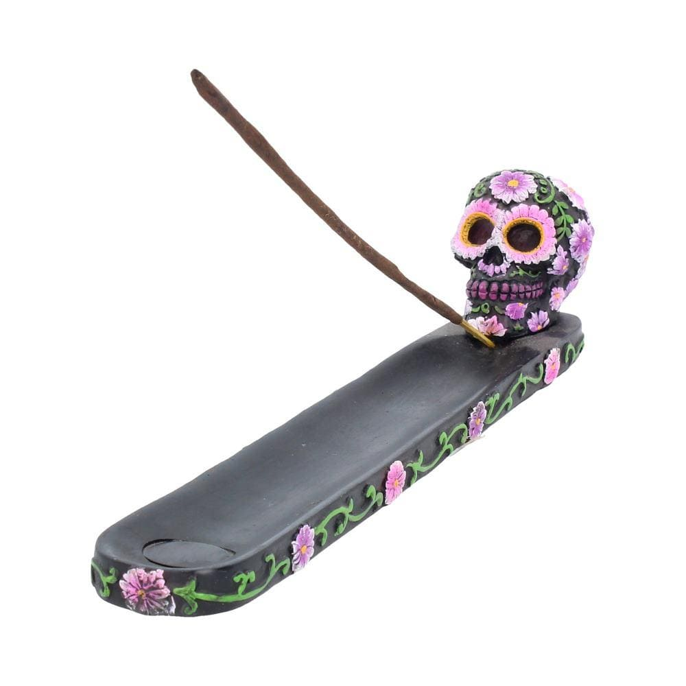 Sugar Petal Incense Burner 26.5cm Skull Incense Burner
