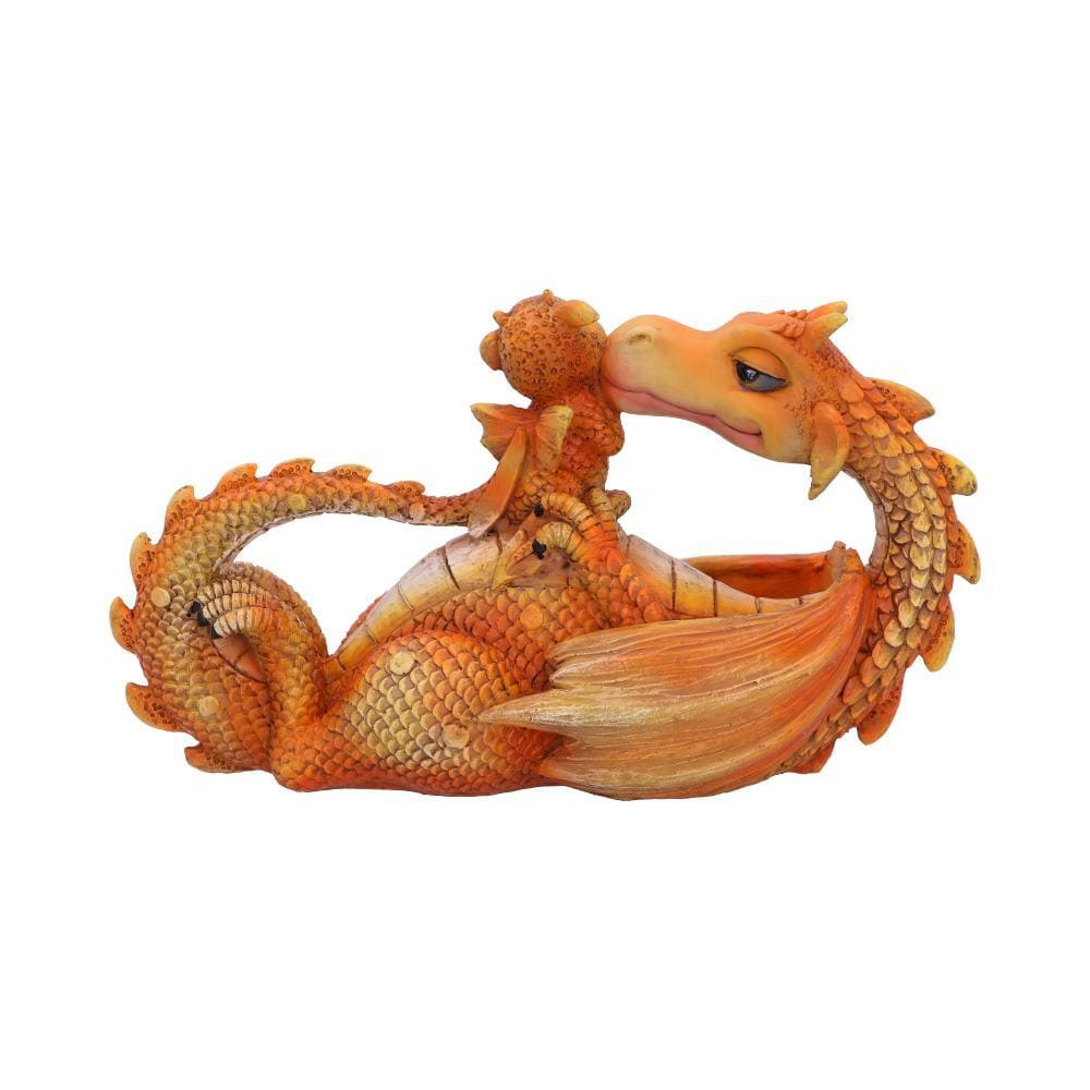 Sweetest Moment (Orange) 20.2cm Dragon Figurine Medium