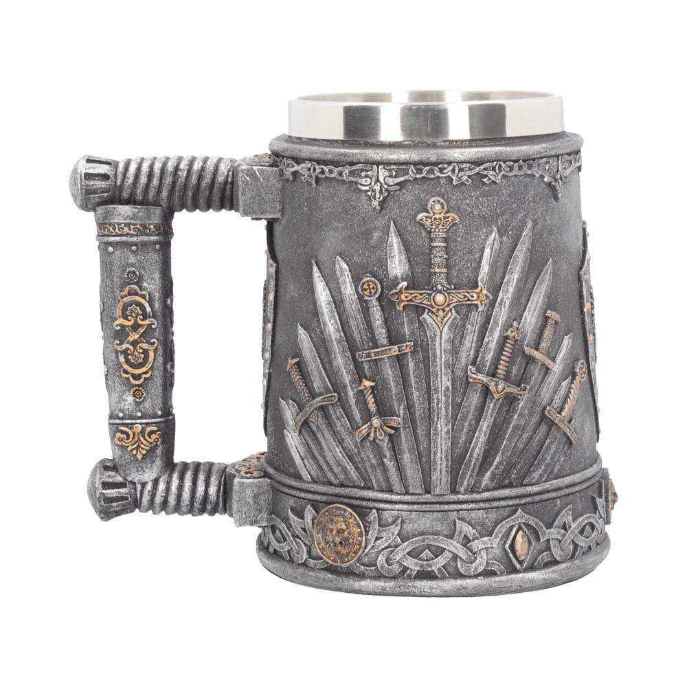 Sword Of The King Tankard 14cm Medieval Tankard