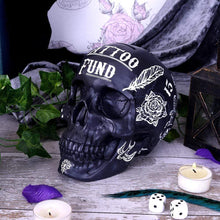 Load image into Gallery viewer, Tattoo Fund (Black) Skull Money Box