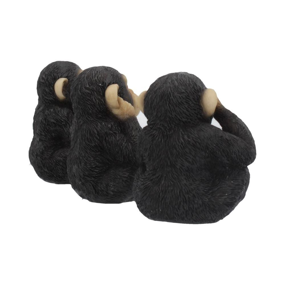 Three Wise Chimps 8cm Ape Figurine Small