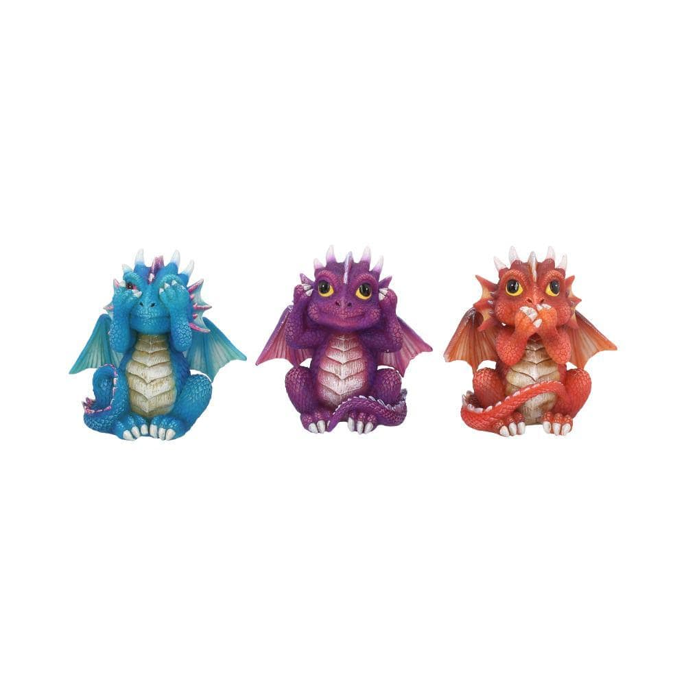 Three Wise Dragonlings 8.5cm Dragon Figurine Small