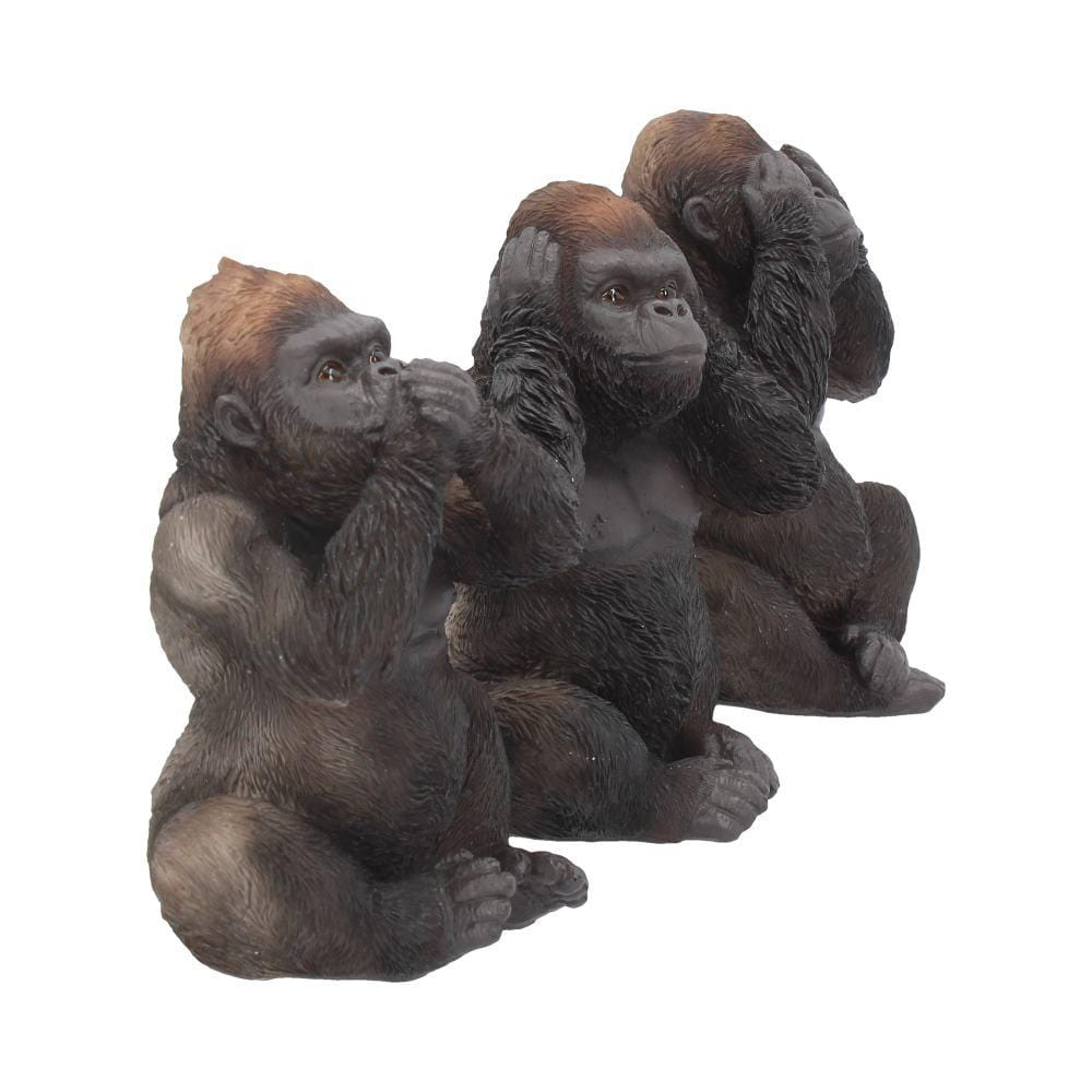 Three Wise Gorillas 13cm Ape Figurine Small