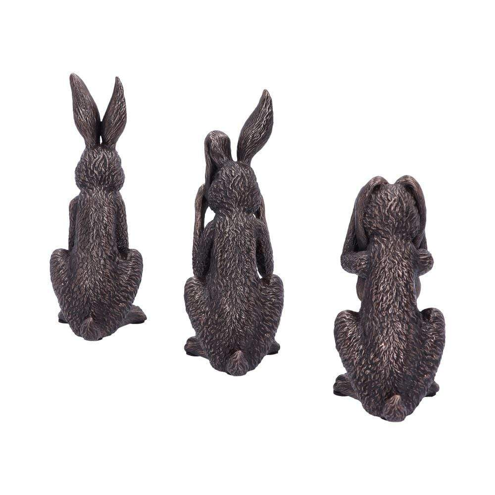 Three Wise Hares 14cm Hares Figurine Small