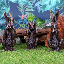 Load image into Gallery viewer, Three Wise Hares 14cm Hares Figurine Small