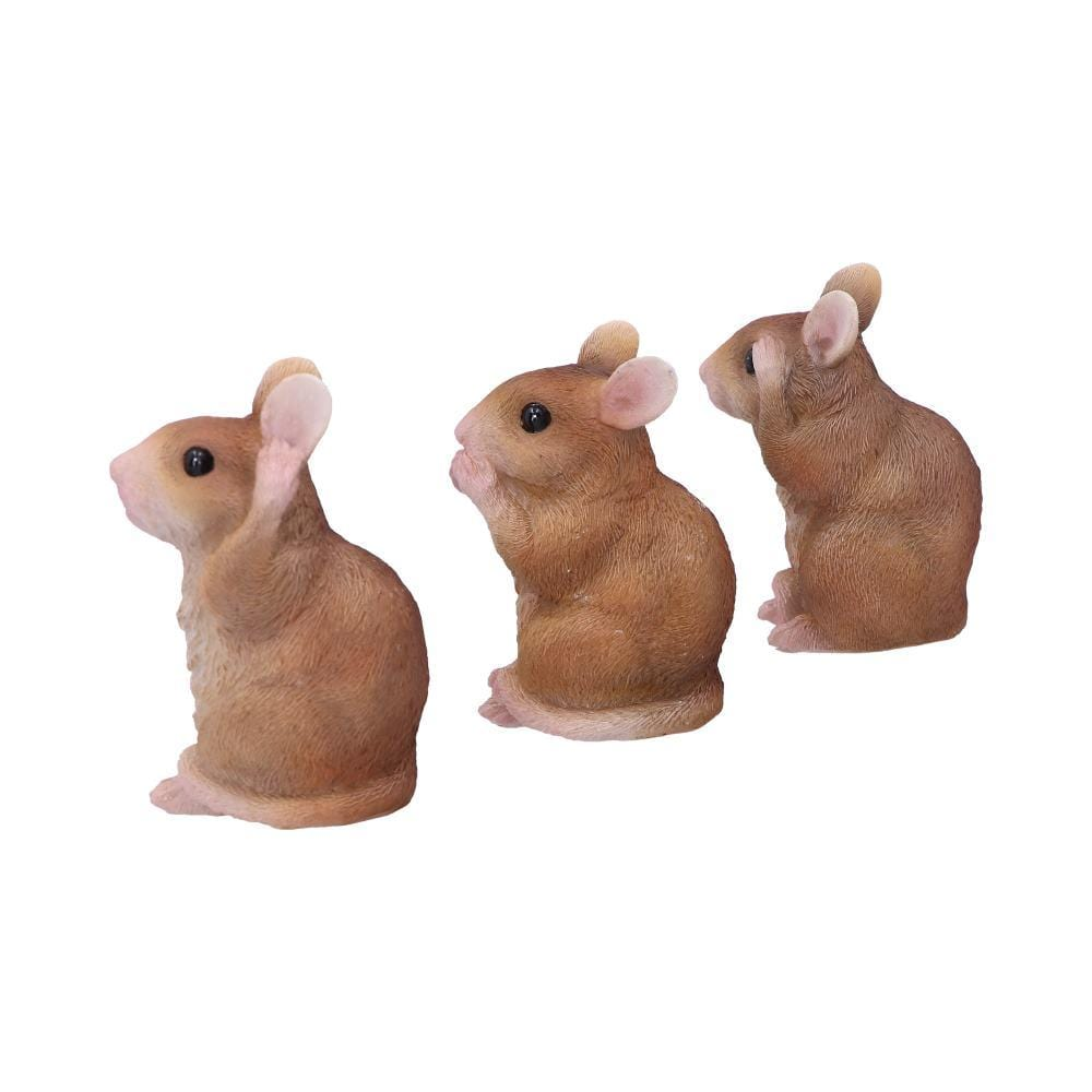 Three Wise Mice 8cm Animal Figurine Small