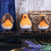 Load image into Gallery viewer, Three Wise Robins 8cm Animal Figurine Small