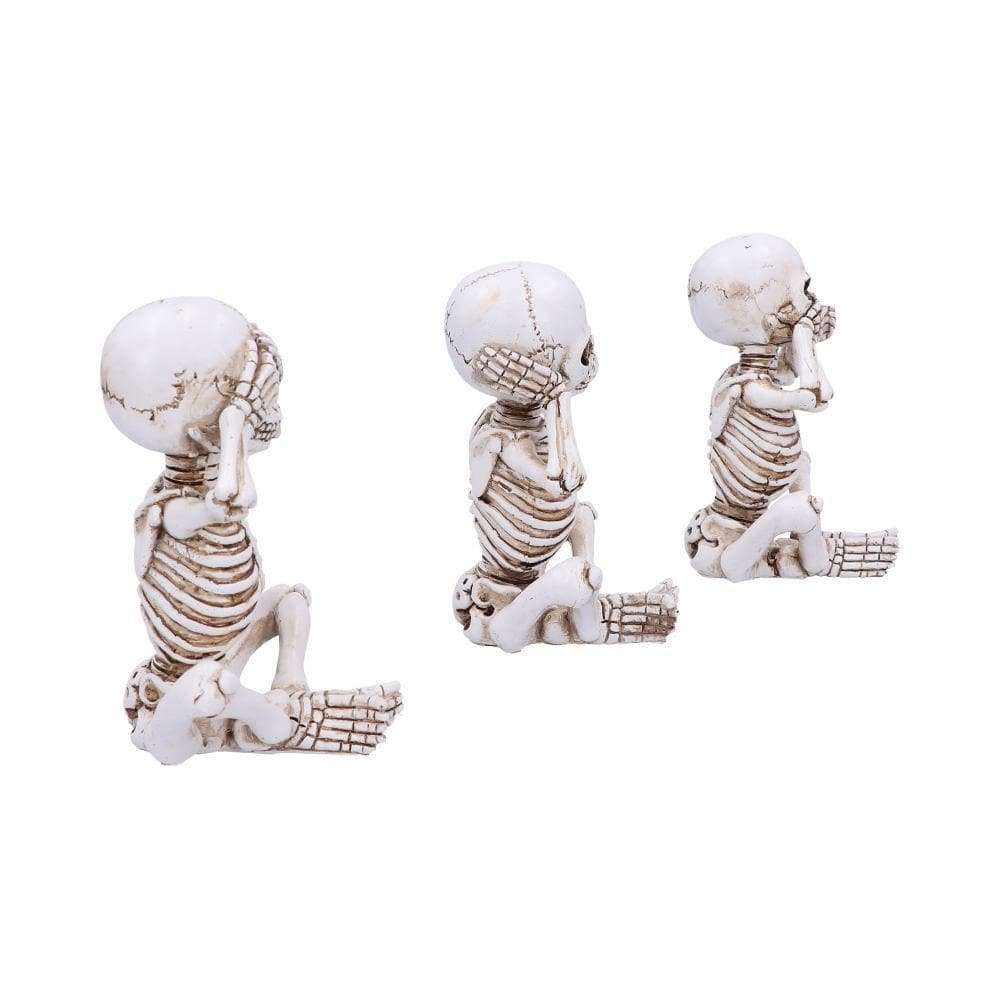 Three Wise Skellywags 13cm (Set Of 3) Skeleton Figurine Small