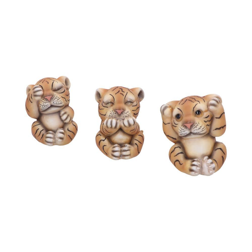 Three Wise Tigers 8cm Animal Figurine Small