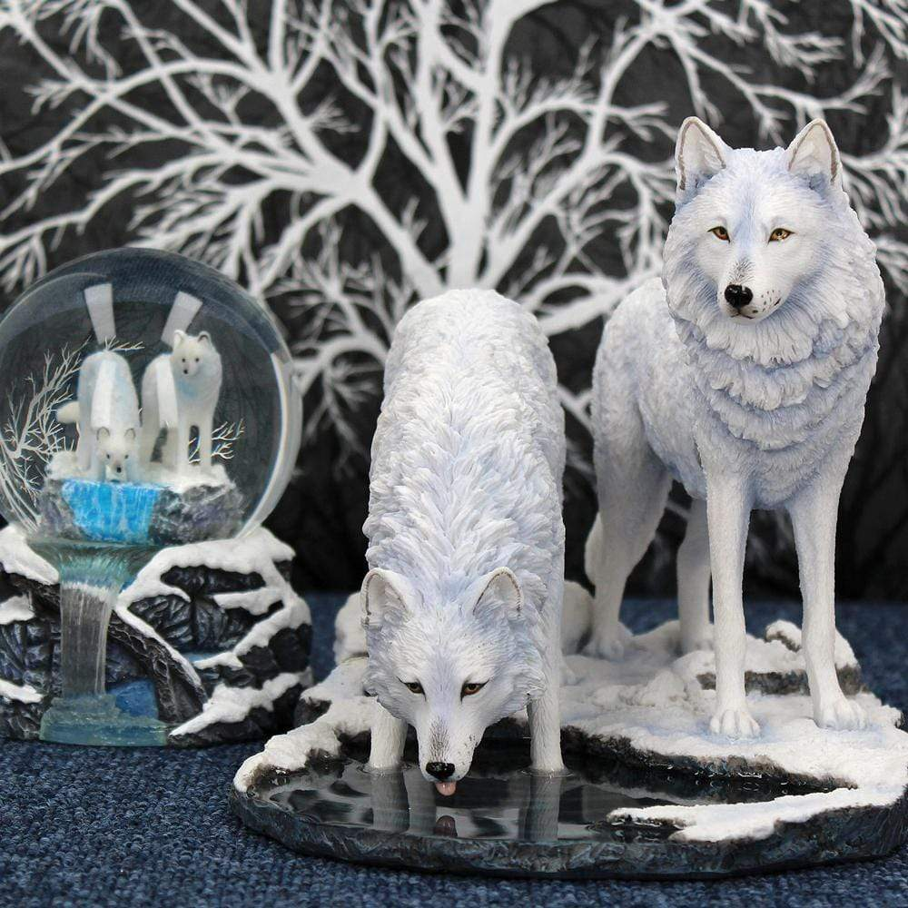 Warriors Of Winter (Lp) 35cm Wolves Figurine Large