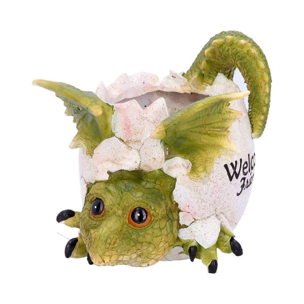 Welcome Friends Pot 17cm Dragon Figurine Medium