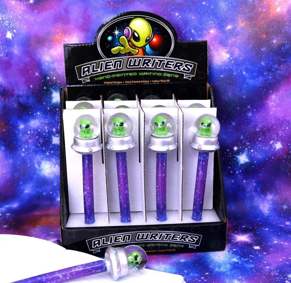Wild Writers Alien Water Ball Pen 16cm (Set Of 12) Science Fiction Pen