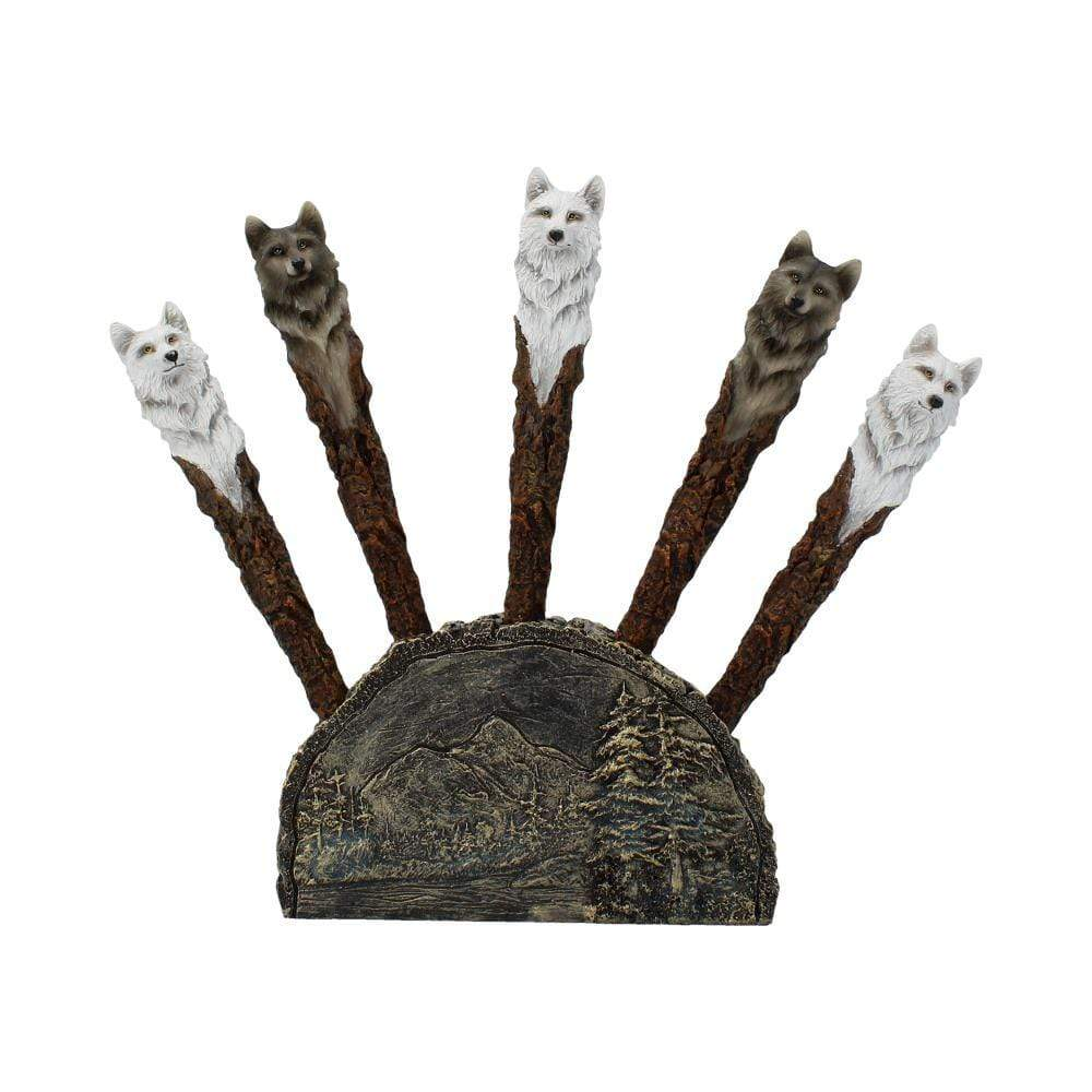 Wolf Writers (Set Of 24) 16cm Wolves Pen