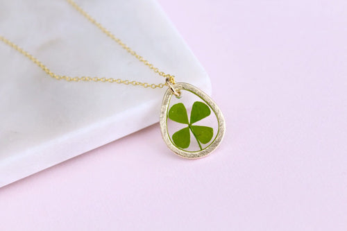 Four-Leaf Clover Necklace in Gold