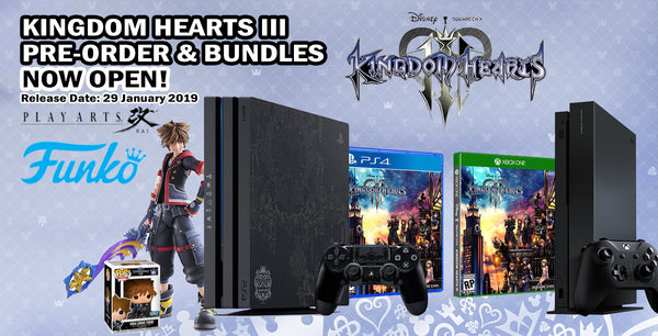 PS4 1TB PRO LIMITED EDITION KINGDOM HEARTS 3 CONSOLE BUNDLE
