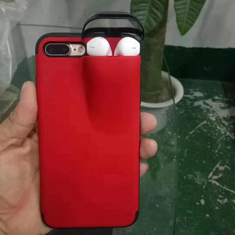 2 in 1 iPhone case with airpots Storage slot