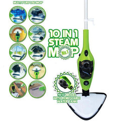Steam Mop Cleaner 10-in-1 with Convenient Detachable Handheld Unit, Laminate/Hardwood/Tiles/Carpet Kitchen - Garment - Clothes - Pet Friendly Steamer Whole House Multipurpose Use by PurSteam