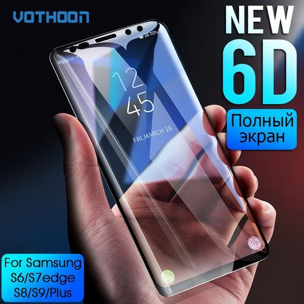 6D Full Curved Toughened Glass Screen Protector Film For Samsung