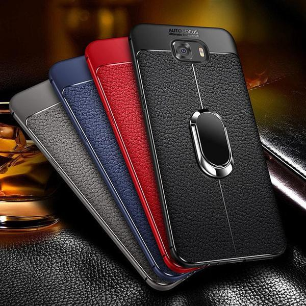 Soft Silicone Leather Case With Magnetic Car Holder For Samsung