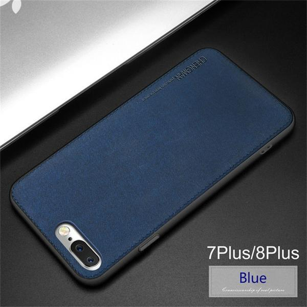 Vintage Ultra Slim Business Fabric Cloth Phone Cases For iPhone