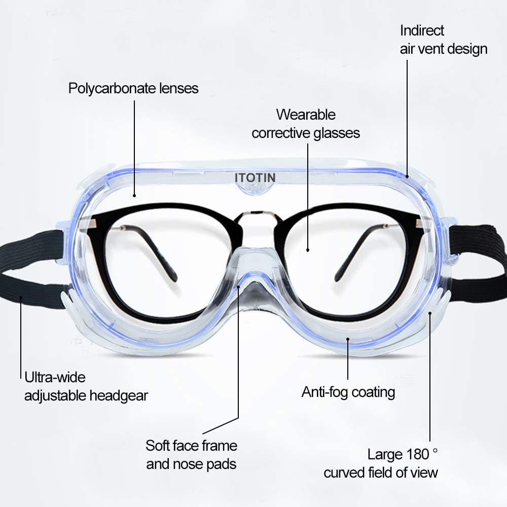 Anti Fog - Safety Goggles For Chemical, Lab, And Workplace Safety