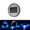 Image of Solar LED Car Cup Holder Mat Pad Waterproof Light Bottle Drinks Coaster (blue light)
