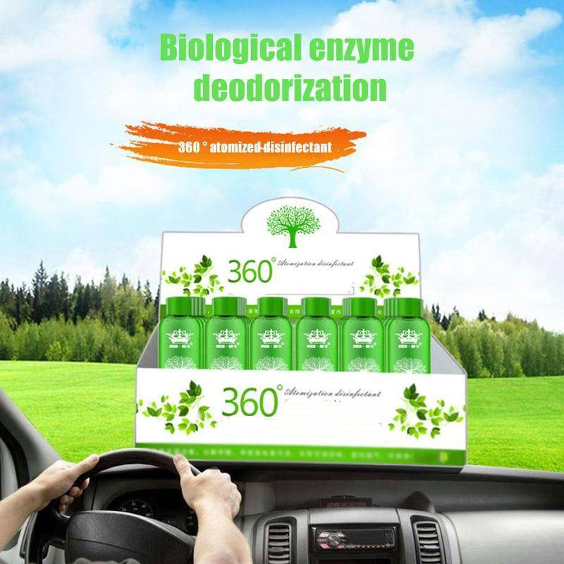 100ml Car Air Purification Bactericide 360 Degree Atomized Machine Disinfectant Air Automobile Purification Smog Bactericid Q5F6