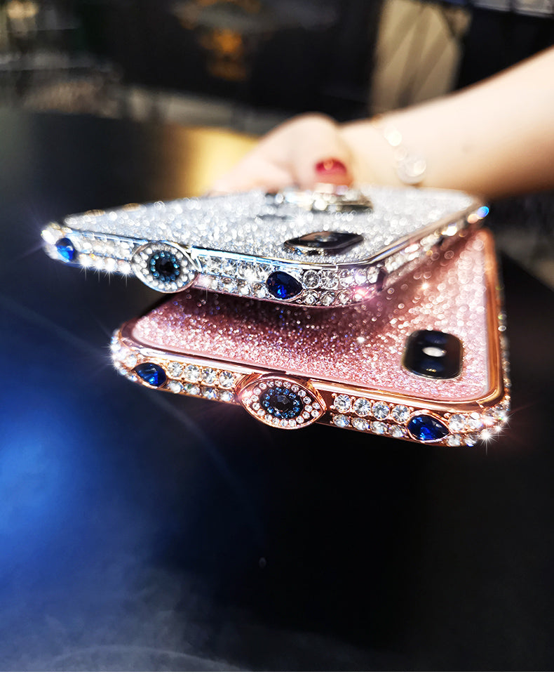 Luxury devil's eye iphone diamond phone case