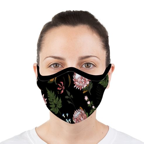 Dark Protea Face Mask