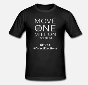 Mens Tshirt Move One Million BELGIUM