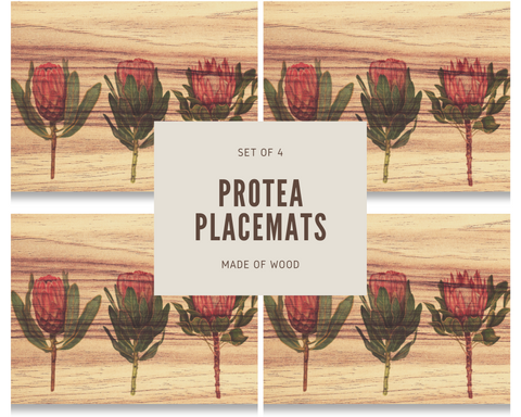 Three Proteas Placemats (Set of 4)