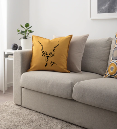 Kudu Cushion Cover, South Africa