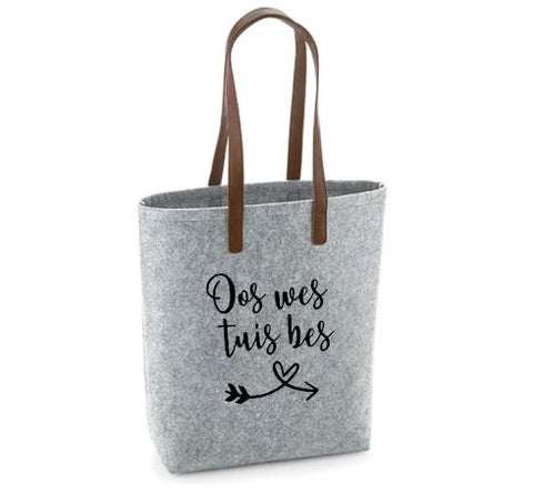 Oos Wes Tuis Bes - Felt Bag With Leather Handles