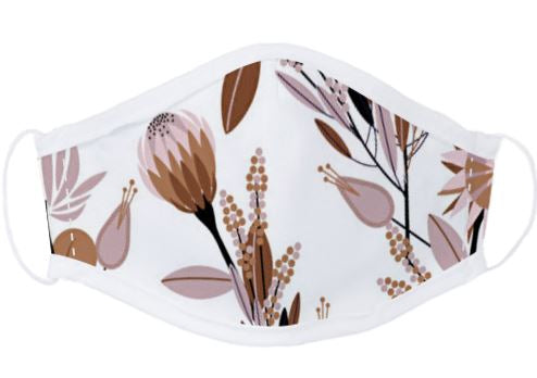 Light Protea Face Mask