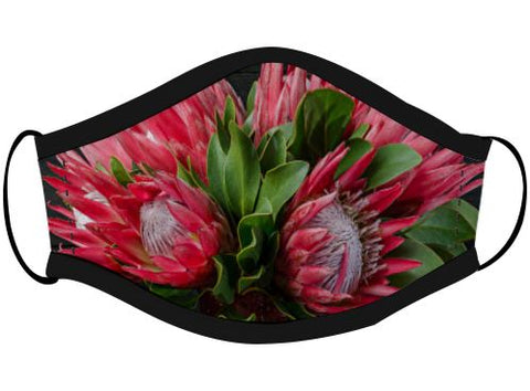 Colorful Protea Face Mask