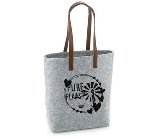 Pure Plaas - Felt Bag With Leather Handles