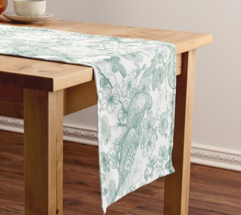 Birds - Mint Green Table Runner