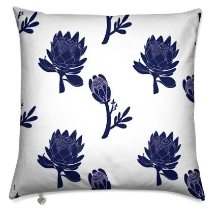 Blue Protea Cushion Cover