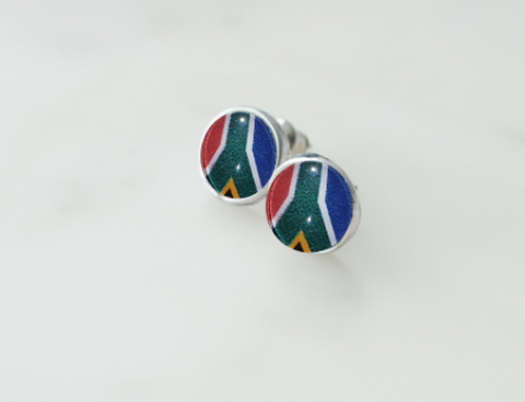 South African Flag Earrings