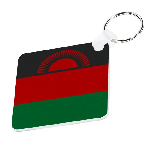 Malawi Flag Keyring - Available In 3 Shapes