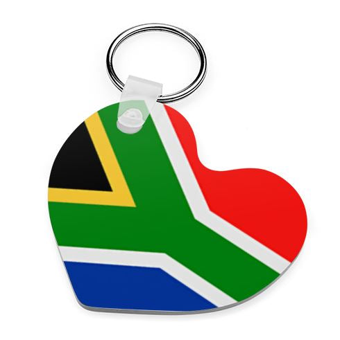 South African Flag Keyring - Available In 3 Shapes