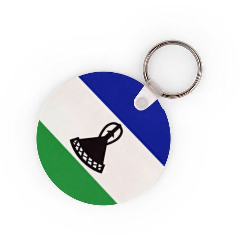 Lesotho Flag Keyring - Available In 3 Shapes