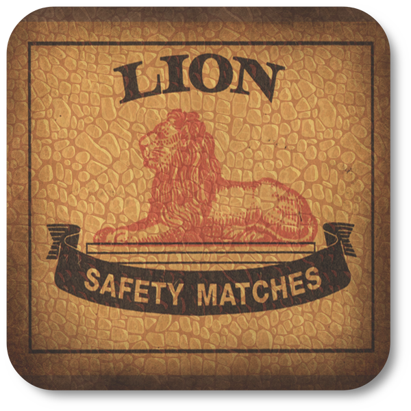 Lion Matches, Golden Syrup, Five Roses and Ouma Rusks Coasters (Set of 4)