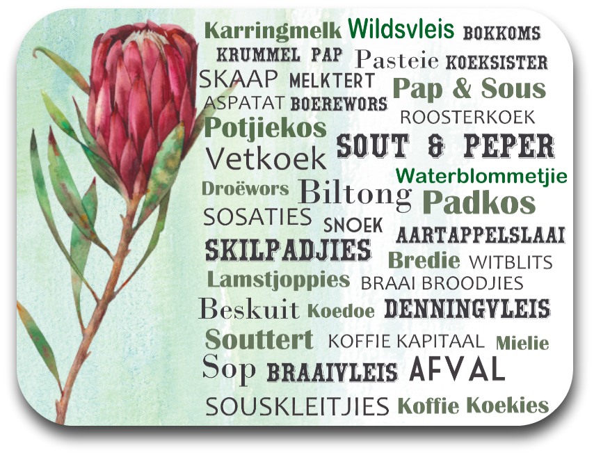 Protea - South African Food Placemat (one placemat)