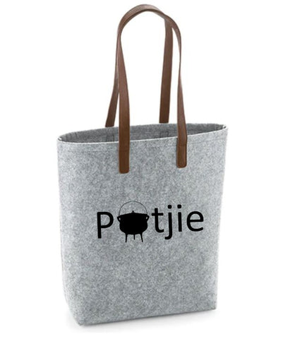 Potjie- Felt Bag With Leather Handles
